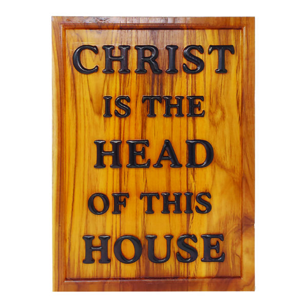 Christ is the HEAD – Teak Wood 14×19 Carved wooden Plaque