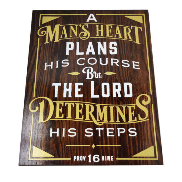A Man's Heart – 19 x 14 inches – Wooden Wall Plaque