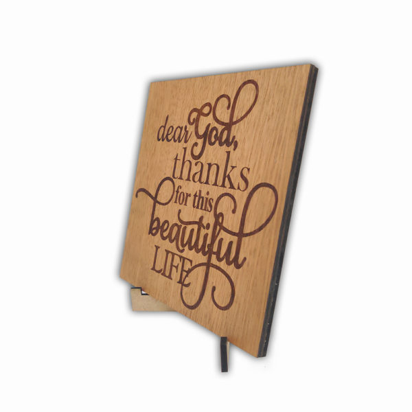 Dear God – Laser engraved – Table Top  6 x 6 inches