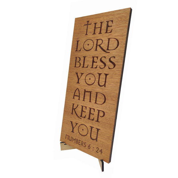 The Lord Bless you – Laser engraved – Table Top 10 x 4.5 inches