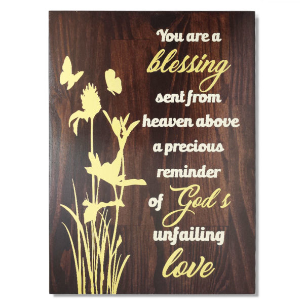 You are a Blessing19 x 14 inches – Wooden Wall Plaque – Kona Gold